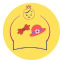 ربط شعر + قبعة اطفال